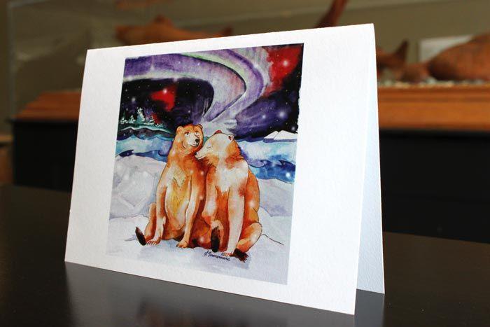 Winter Bears - art by Laura Timmermans (Seasonal greeting cards)