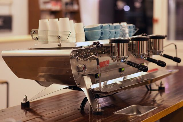 Kees van der Westen - Spirit. Prototype multiboiler espressomachine. What a piece of art!