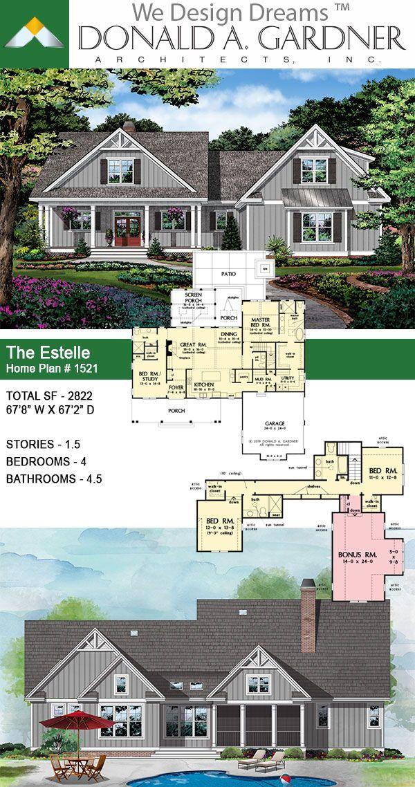 House Plan The Estelle Home Plan 1521 Craftsman House Plans House Plans Dream House Plans