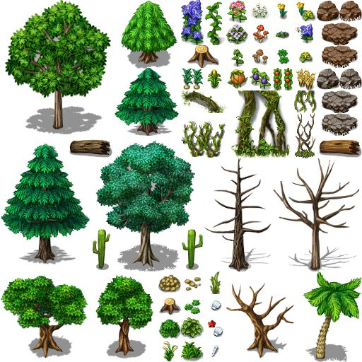 Rpg Maker Trees And Nature Nature decorations Pinterest Trees