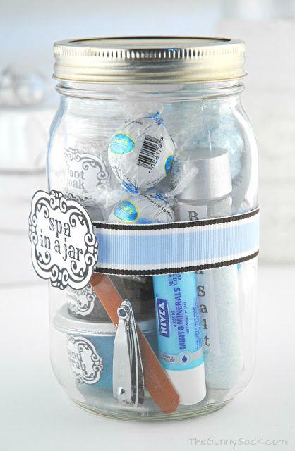 """Spa in a jar"" Valentine's Day gift idea"