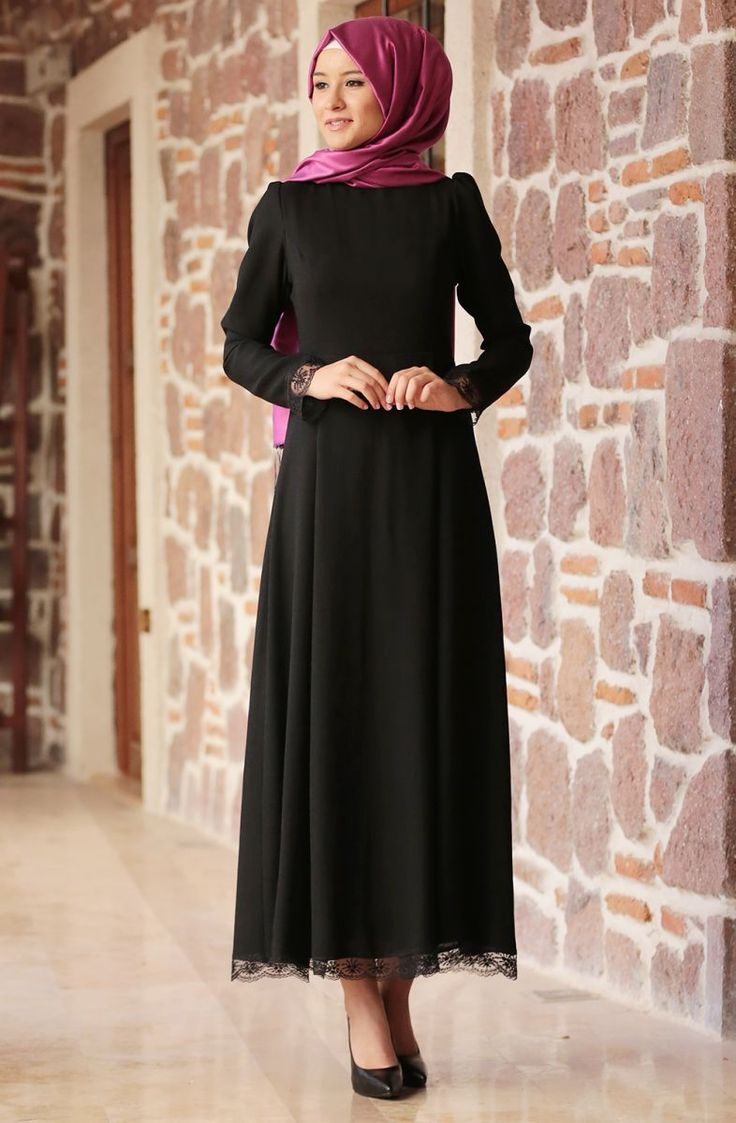 Amine Hüma Elit Elbise 3104 Siyah