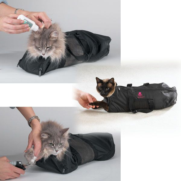 Cat Grooming Nail Clipping Bathing Bath Bag NO BITE SCRATCH Restraint System*NEW in Pet Supplies, Cat Supplies, Behavior Training | eBay