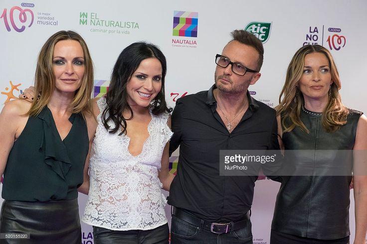Sharon Corr, Andrea Corr, Jim Corr and Caroline Corr of irish band The Corres attend 'La Noche de Cadena 100' photocall at Barclaycard center on April 9, 2016 in Madrid, Spain.