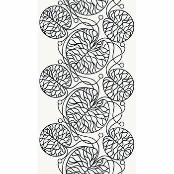 Marimekko Bottna Black / White Upholstery Fabric - Click to enlarge