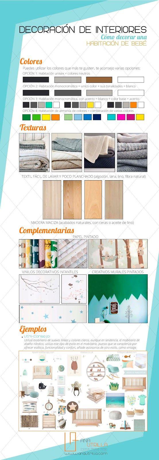#Consejos para saber cómo #decorar la habitación de tu bebé por Ana Utrilla Info@anautrilla.com
