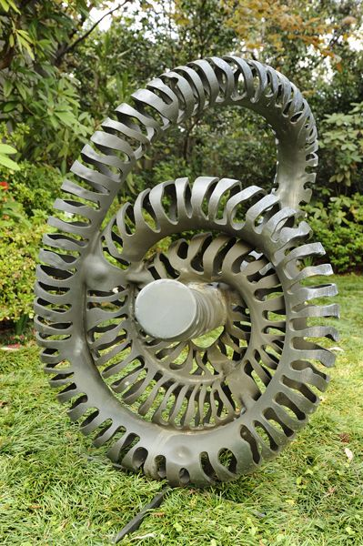 Coiled by Andrew Rogers, 2011. Stainless Steel.