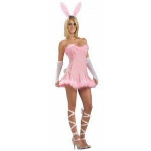 Costume bunny lapin rose sexy chic femme, déguisement lapin rose adulte. http://www.baiskadreams.com/1962-deguisement-bunny-lapin-rose-sexy-femme.html