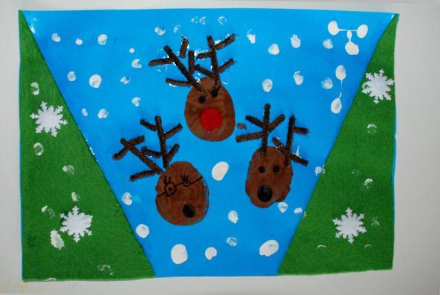 Reindeer Christmas Card Idea