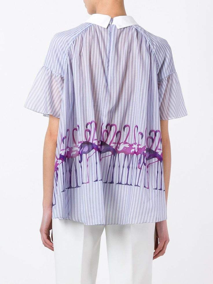 Giamba блузка с принтом фламинго