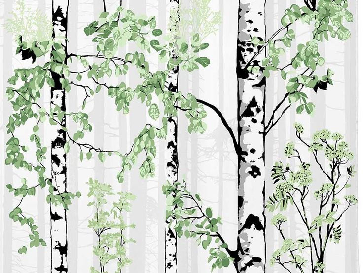 Luontopolku Curtain Panel - designed by Vallila Interiors in Helsinki and exclusive in NZ to Harvey Furnishings.
