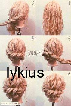 haar pony #haar #hair Luxus geflochtene Hochsteckf…