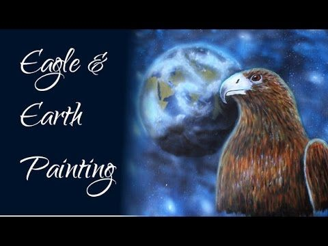 Eagle Earth Galaxy - Acrylic Painting & Airbrush Speed Painting