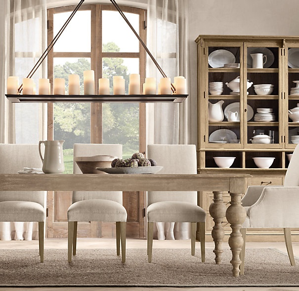 Love This Pillar Candle Chandelier From Restoration Hardware Dining Table