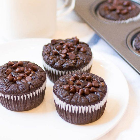 At 67 calories a pop, these indulgent, flourless chocolate muffins are the perfect breakfast or snack to satisfy your chocolate craving