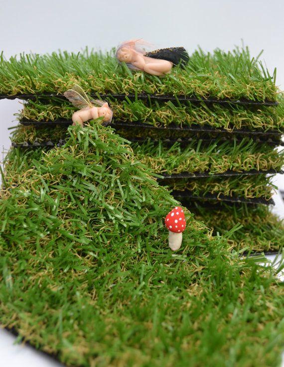 Grass Turf Mat For Fairy Garden. By PinkyDinkyDesigns On Etsy