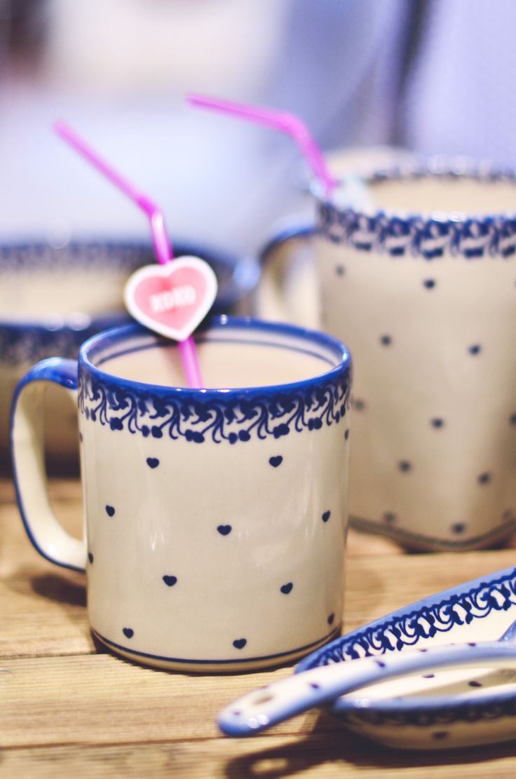 Mugs for Coffee and Tea.  Perfect for Valentine's Day.