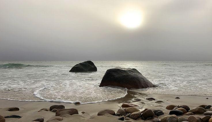 Framed Photo Print of MOSHUPS BEACH AQUINNAH MARTHAS