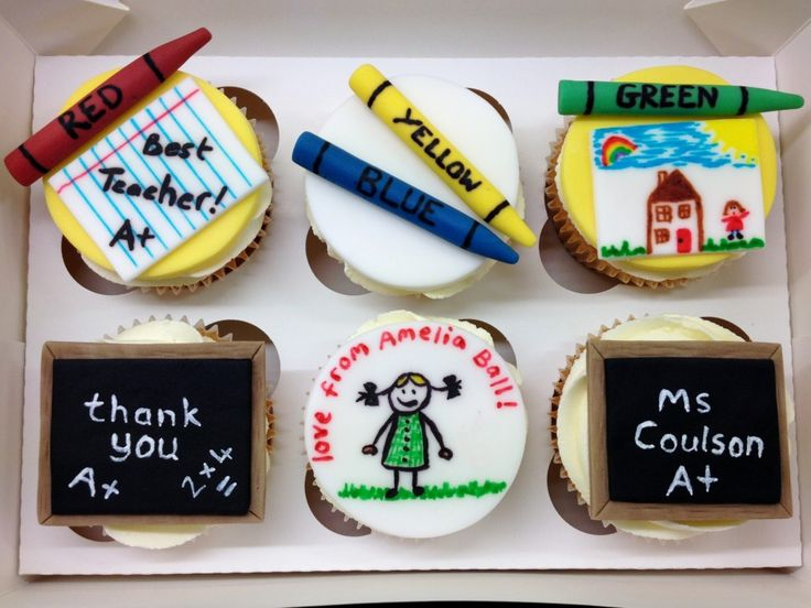 Teacher thank you cupcakes