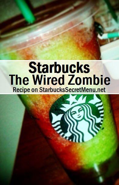 Starbucks Halloween themed drink The Wired Zombie! #starbuckssecretmenu How to order: http://starbuckssecretmenu.net/the-wired-zombie-starbucks-secret-menu/