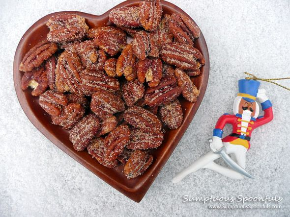 Butter Rum Sweet Spiced Pecans ~ from Sumptuous Spoonfuls #spiced #nuts #recipe