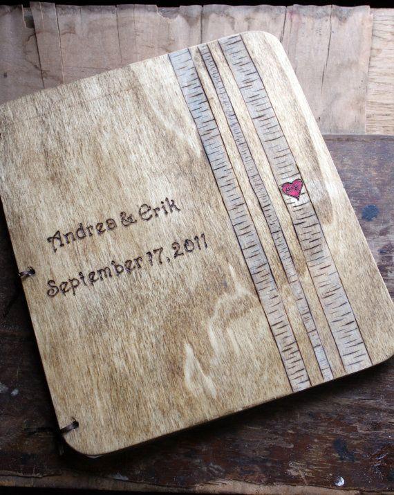 Libro de visitas abedul arboleda de boda por LazyLightningArt