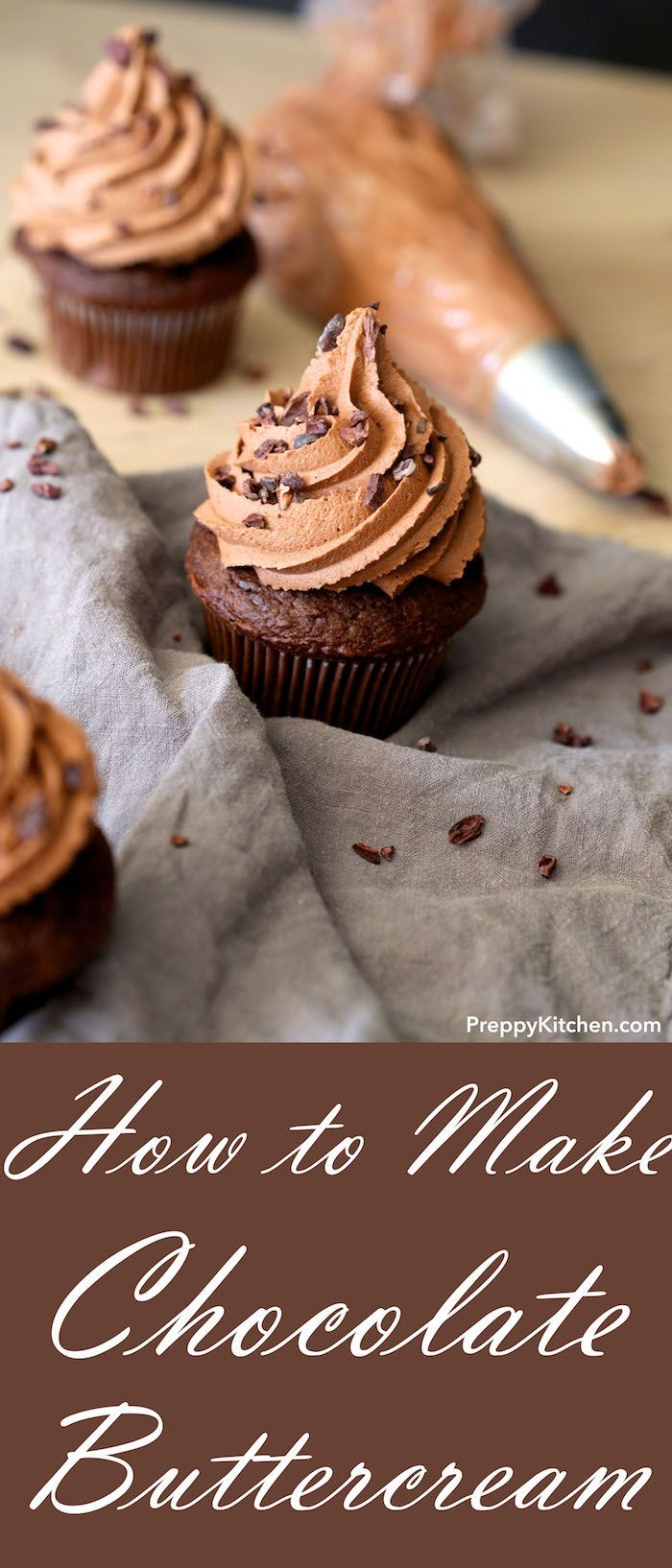 How to make Chocolate Buttercream Frosting for cupcakes, cakes, ice cream cakes and any other desserts