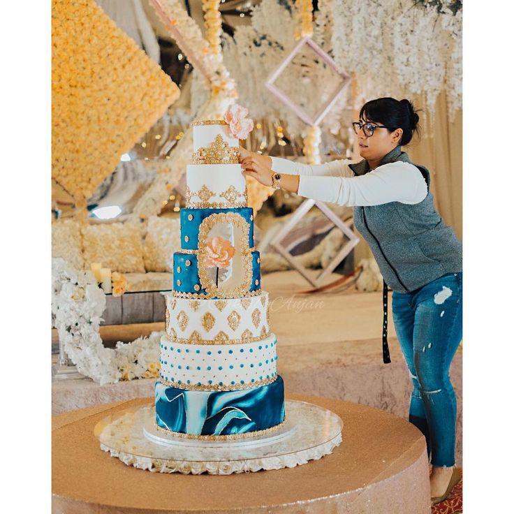 "353 Likes, 6 Comments - Anjan I Cakes By Anjan (@cakesbyanjan) on Instagram: ""Caught in the moment! #passion Congratulations!! @baalkiraanshoker @gurmindershoker…"""