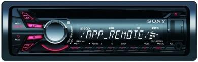 Radioodtwarzacz samochodowy CD i mp3 umożliwiający podłączenie odtwarzacza WALKMAN® i telefonu iPhone®.