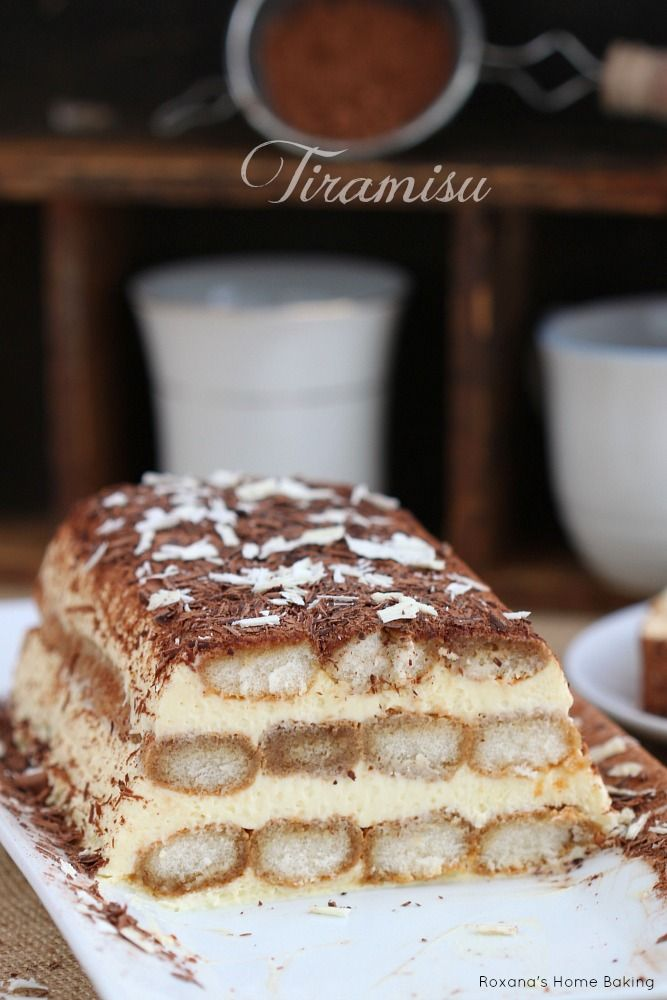 Tiramisu - a classic Italian dessert made with just a handful of ingredients. Recipe from Roxanashomebaking.com