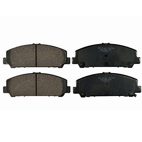 KFE Ultra Quiet Advanced KFE1509-104 Premium Ceramic FRONT Brake Pad Set. For product info go to:  https://www.caraccessoriesonlinemarket.com/kfe-ultra-quiet-advanced-kfe1509-104-premium-ceramic-front-brake-pad-set/