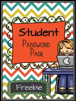 Do your students have a difficult time remembering all of their passwords to programs? If so, take advantage of this freebie, so your students can put all of their important login information all in one place.