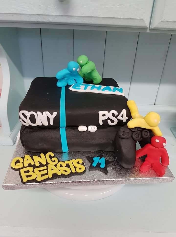 Playstation 4 Birthday Cake Gang Beast Game Theme