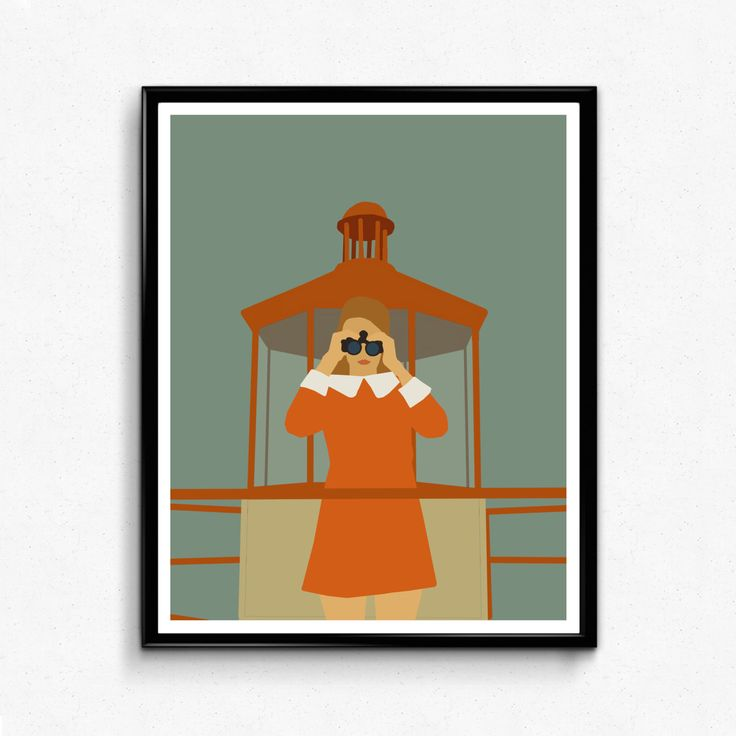 Moonrise Kingdom Movie Poster- Minimalist Movie Print, Feminist by TheFilmArtist on Etsy https://www.etsy.com/listing/510059125/moonrise-kingdom-movie-poster-minimalist
