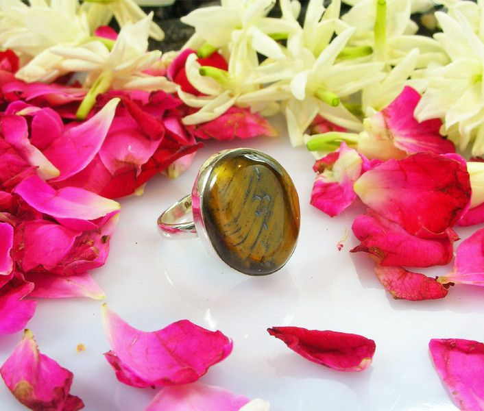 Stacking Rings – Awesome Handmade Solid Tiger Eye Ring – a unique product by IndianCraftPalace on DaWanda