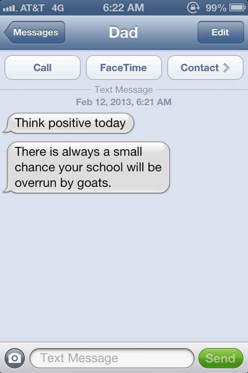 The inspirational text. | The 24 Types Of Text All Dads Send