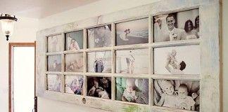Nápady ako premeniť staré dvere na fotorámčeky s vešiakmi a policou