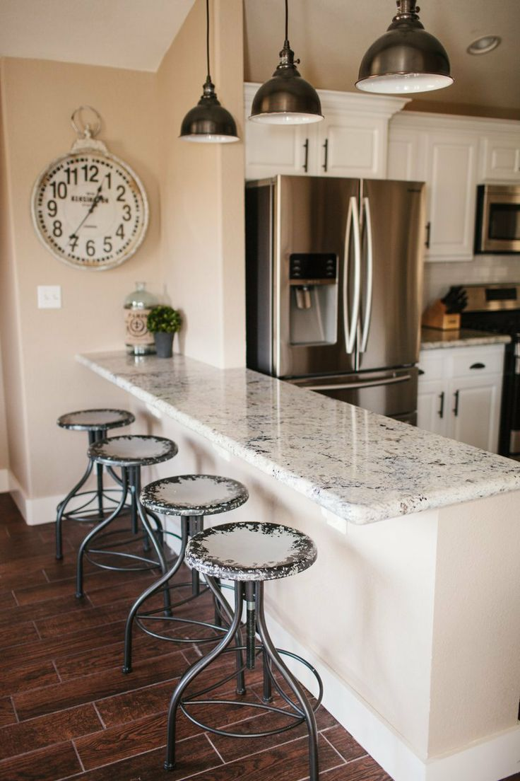 white granite | The Dining Room & Breakfast Bar :: Vacation Home Remodel - The TomKat ...
