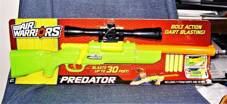 Buzz Bee Toys Air Warriors Predator Soft Dart Bolt Action Sniper Rifle Toy NEW #AlexBrandsBuzzBeeToys