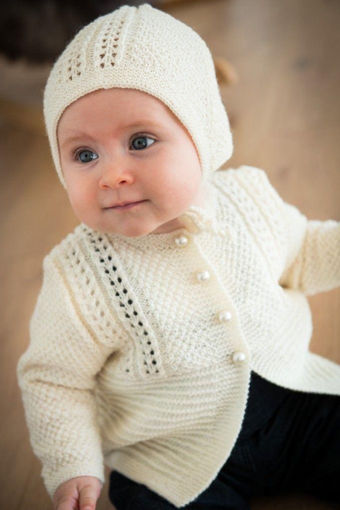 2015-2: Pigetrøje med hulmønster i Easy Care. Gratis strikkeopskrift med elegant mønster. [Strikkeopskrift, Garn, Pattern, Knitting, Spring/Summer collection 2016]