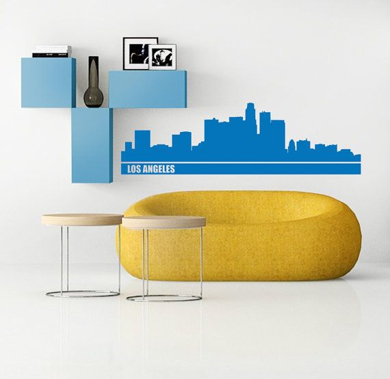 Los Angeles decal skyline wall decor by newpoint on Etsy, $48.00