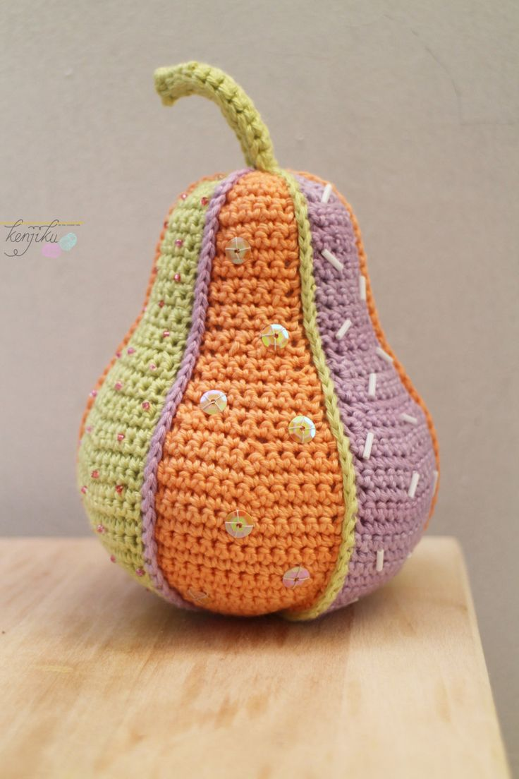 Pear Crochet Patchwork by KenjikuMade on Etsy