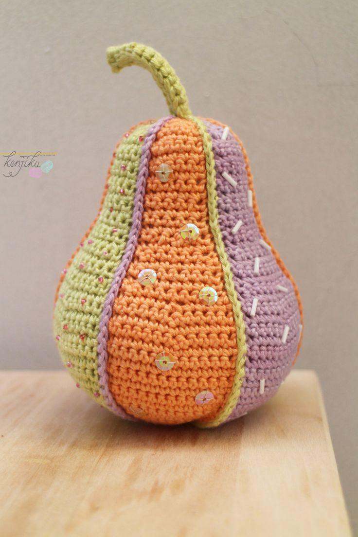 Pear Crochet Patchwork by KenjikuMade on Etsy