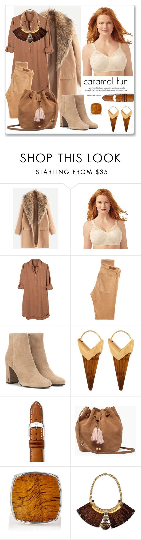 """""""necklace"""" by mariarty ❤ liked on Polyvore featuring Playtex, United by Blue, AG Adriano Goldschmied, Yves Saint Laurent, Theodora Warre, Michele, UGG, Tom Wood and Natalie Waldman"""