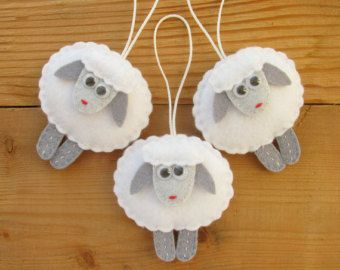 This set includes 6 felt mittens. You can use them as Christmas tree decorations or as decor your home at Holiday. All ornaments have one side embroidery and ribbon length 3 (7.5 cm). Dimensions: 2 x 2.8 (5 x 7 cm) This set would make a great gift. But due to the use of small beads it is not suitable for small children. Ready to ship! ------------------------------------------------------------------- The shipping price is combined. The actual shipping price you will see in your shopping…