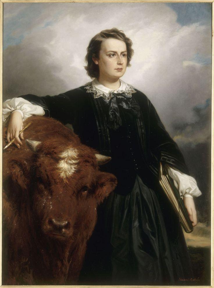 Portrait de ROSA BONHEUR par Édouard-Louis Dubuffe