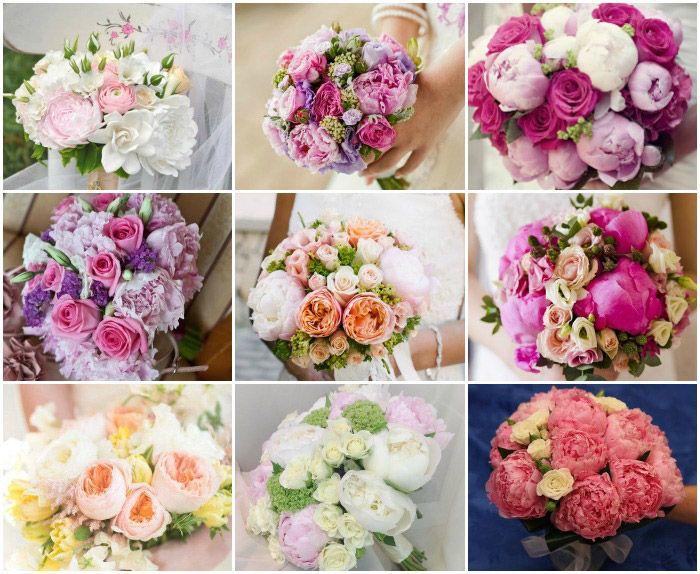 Свадебные букеты с розами