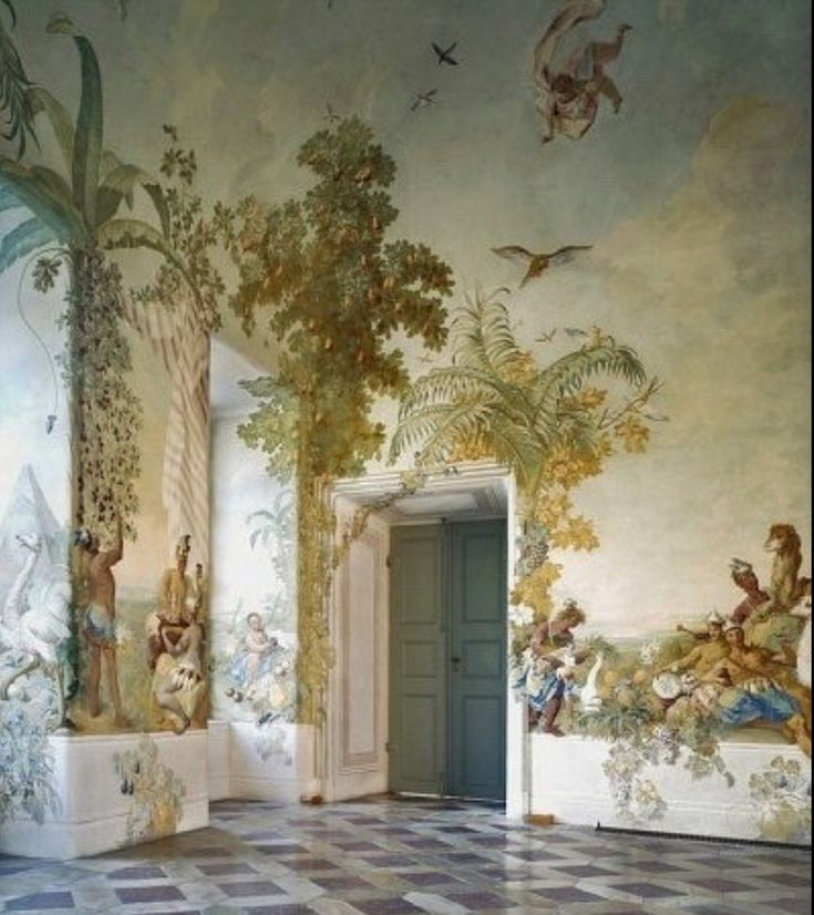 old painted walls