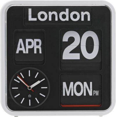 Buy Habitat Flap Small Analogue City Wall Clock at Argos.co.uk, visit…