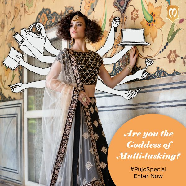 God made women multi-taskers. Baby on one hand, big financial report on another. Are you the super woman who'll enter in the comments what you juggle between and WIN shopping vouchers! Announcing Goddesses on 10th October. #PujoSpecial